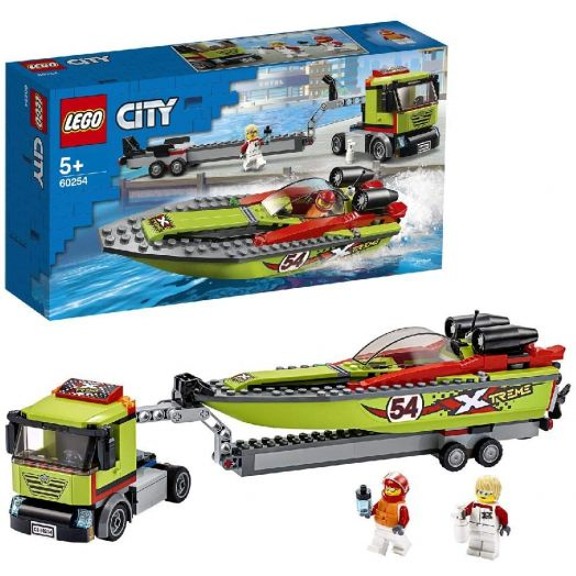 60254 LEGO® City Great Vehicles Lenktyninės valties transporteris