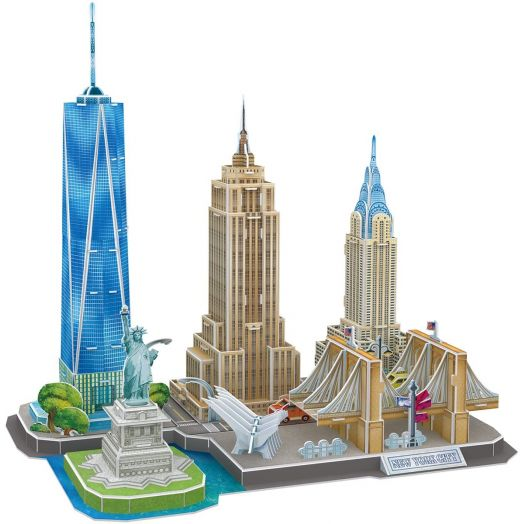 "3D dėlionė ""New York"" 123 det., Cubic Fun"