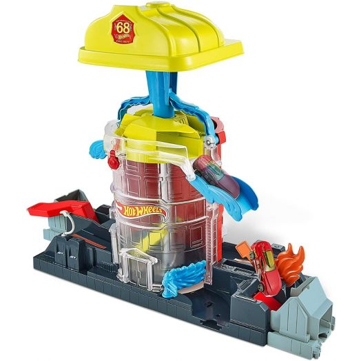 "Hot Wheels trasa  ""Super Firehouse Rescue Playset"", GJL06"
