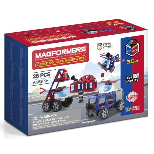 "Magformers magnetinis konstruktorius ""Amazing Police and Rescue Set"""