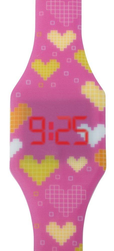 """Laikrodžiai vaikams - vaikiškas LED laikrodis """"Širdutės"""""""