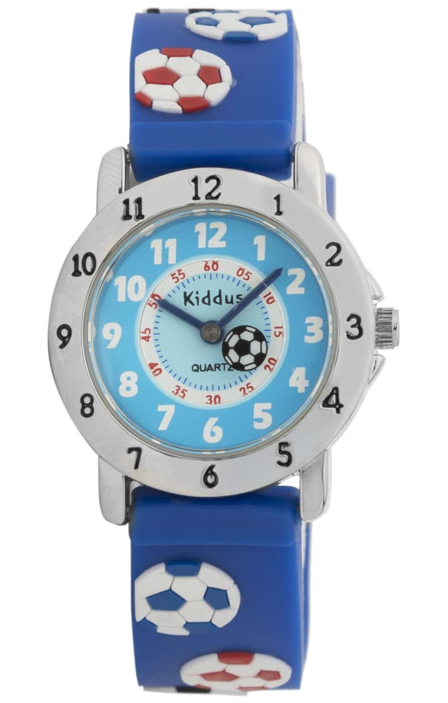 """Laikrodžiai vaikams - Vaikiškas laikrodis """"Futbolas"""" Kiddus"""